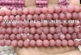 CCN5596 15 inches 8mm round matte candy jade beads Wholesale