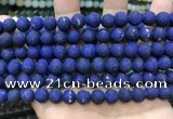 CCN5614 15 inches 8mm round matte candy jade beads Wholesale