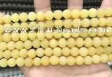 CCN5616 15 inches 8mm round matte candy jade beads Wholesale