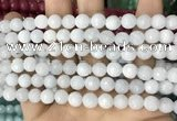 CCN5650 15 inches 8mm faceted round candy jade beads