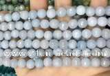 CCN5652 15 inches 8mm faceted round candy jade beads