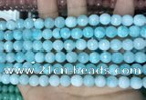 CCN5655 15 inches 8mm faceted round candy jade beads