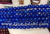 CCN5665 15 inches 8mm faceted round candy jade beads