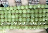 CCN5670 15 inches 8mm faceted round candy jade beads