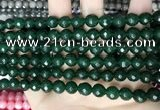 CCN5674 15 inches 8mm faceted round candy jade beads