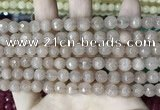 CCN5678 15 inches 8mm faceted round candy jade beads
