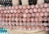 CCN5714 15 inches 8mm faceted round candy jade beads