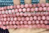 CCN5724 15 inches 8mm faceted round candy jade beads