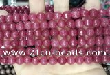 CCN5726 15 inches 8mm faceted round candy jade beads