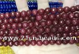 CCN5729 15 inches 8mm faceted round candy jade beads