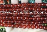 CCN5735 15 inches 8mm faceted round candy jade beads