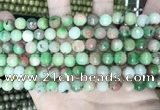 CCN5740 15 inches 8mm faceted round candy jade beads