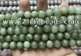 CCN5778 15 inches 10mm faceted round candy jade beads