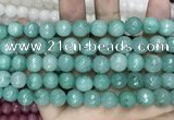 CCN5786 15 inches 10mm faceted round candy jade beads