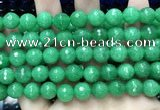 CCN5787 15 inches 10mm faceted round candy jade beads