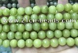 CCN5792 15 inches 10mm faceted round candy jade beads