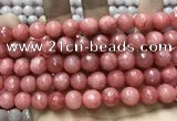 CCN5808 15 inches 10mm faceted round candy jade beads