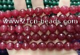 CCN5812 15 inches 10mm faceted round candy jade beads