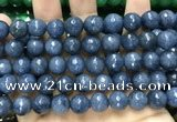 CCN5815 15 inches 10mm faceted round candy jade beads