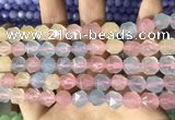 CCN5850 15 inches 8mm faceted nuggets candy jade beads Wholesale