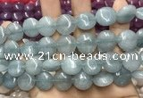 CCN5858 15 inches 15mm flat round candy jade beads Wholesale