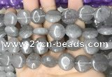 CCN5861 15 inches 15mm flat round candy jade beads Wholesale