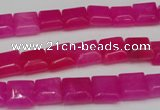 CCN587 15.5 inches 8*8mm square candy jade beads wholesale