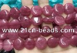 CCN5884 15 inches 15mm flat round candy jade beads Wholesale