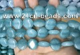 CCN5889 15 inches 15mm flat round candy jade beads Wholesale