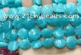 CCN5895 15 inches 15mm flat round candy jade beads Wholesale