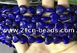 CCN5938 15 inches 12*12mm heart candy jade beads Wholesale