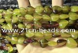 CCN5941 15 inches 12*12mm heart candy jade beads Wholesale