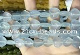 CCN5946 15 inches 14*14mm heart candy jade beads Wholesale