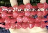 CCN5952 15 inches 14*14mm heart candy jade beads Wholesale