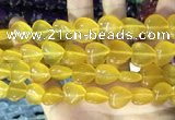 CCN5954 15 inches 14*14mm heart candy jade beads Wholesale
