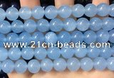 CCN6146 15.5 inches 8mm round candy jade beads Wholesale