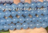 CCN6182 15.5 inches 14mm round candy jade beads Wholesale