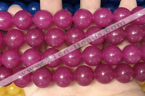 CCN6184 15.5 inches 14mm round candy jade beads Wholesale