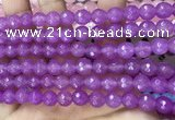 CCN6306 15.5 inches 8mm faceted round candy jade beads Wholesale