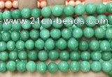 CCN6331 15.5 inches 8mm faceted round candy jade beads Wholesale