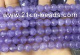 CCN6355 6mm, 8mm, 10mm, 12mm & 14mm faceted round candy jade beads