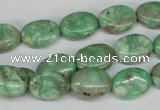 CCO117 15.5 inches 10*14mm oval dyed natural chrysotine beads
