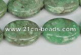 CCO120 15.5 inches 18*25mm oval dyed natural chrysotine beads