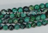 CCO141 15.5 inches 6mm round dyed natural chrysotine beads