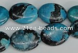 CCO180 15.5 inches 15*20mm oval dyed natural chrysotine beads