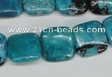 CCO186 15.5 inches 18*18mm square dyed natural chrysotine beads
