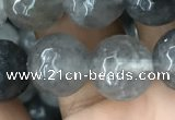 CCQ584 15.5 inches 12mm faceted round cloudy quartz beads wholesale