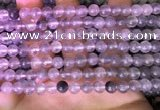 CCQ588 15.5 inches 4mm round cloudy quartz beads wholesale