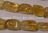 CCR219 15.5 inches 11*17mm nuggets natural citrine gemstone beads