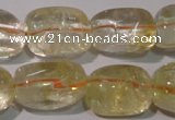 CCR220 15.5 inches 14*23mm nuggets natural citrine gemstone beads